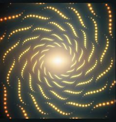 Infinite spirals tunnel of shining vector