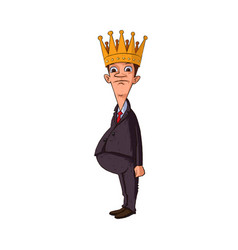 man with a crown vector image