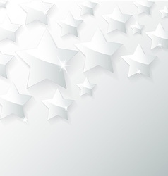 Glass star with shadow in gray background vector