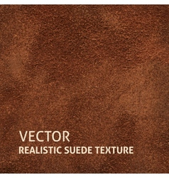 Brown suede background vector image