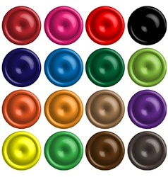 3d button vector image vector image
