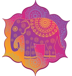 Indian elephant with texture vector