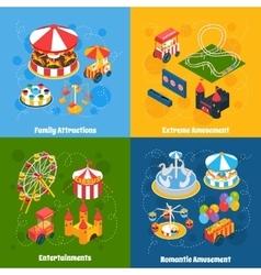 Amusement park isometric vector