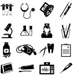Healthcare and medical icons set vector