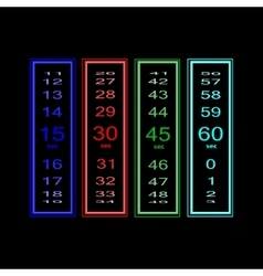 Second time counter countdown download vector