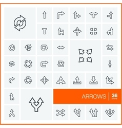 thin line icons set and graphic design vector image