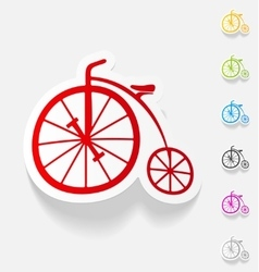 Realistic design element bicycle vector