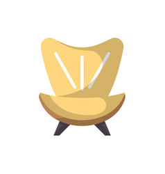 armchair isolated icon in flat style vector image vector image