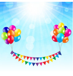 Arty background with flags and balloons vector