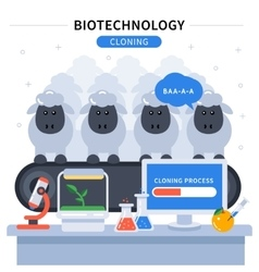 Biotechnology Colored Banner vector image vector image