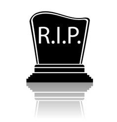 Black gravestone silhouette vector