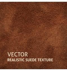Brown suede background vector image vector image