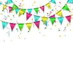 buntings with confetti isolated on white vector image vector image