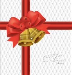 Christmas bells bow background vector image