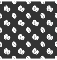 Coffee seed seamless pattern vector