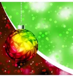 Colorful Christmas Ball card template EPS 8 vector image vector image