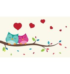 Couple of birds in love vector