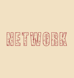 creative of network word vector image vector image