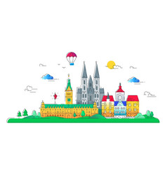european countries - line travel vector image