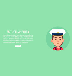 Future mariner portrait of young boy in capillary vector