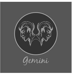 Gemini astrological zodiac symbol horoscope sign vector