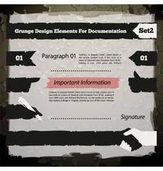 Grunge design elements for documentation set2 vector