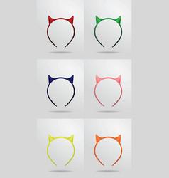 horn devil mask vector image vector image