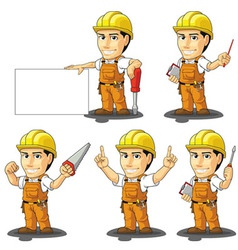 Industrial Construction Worker Mascot 3 vector image