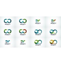 Infinity company logo icon set vector image