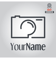 Logo badge emblem or label for photograph vector image