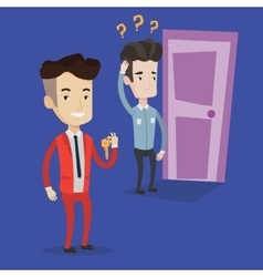 Making the right decisions in business vector image vector image