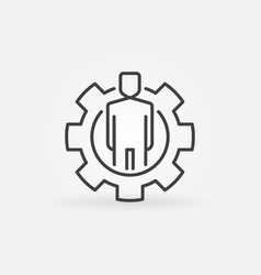 man in gear outline icon vector image vector image