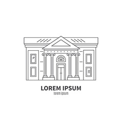 Museum or Theatre Icon vector image