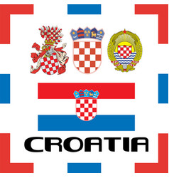 Official government ensigns of croatia vector