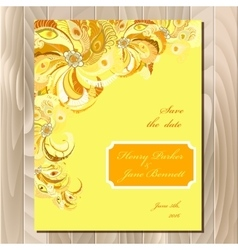 Peacock feathers wedding card Printable vector image vector image