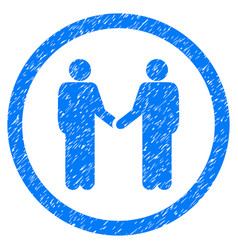 Persons agreement rounded grainy icon vector