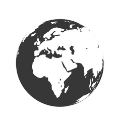 Planet map earth world sphere icon graphic vector