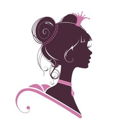 Portrait of a beautiful princess i vector image vector image