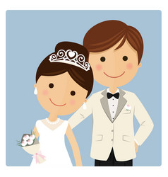 Princely style couple foreground on blue vector