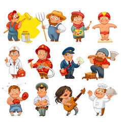 Professions isolated on white background vector