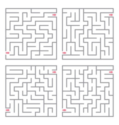 Set of mazes vector image