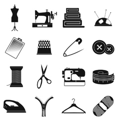 Sewing simple icon vector image