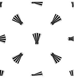 shuttlecock pattern seamless black vector image vector image