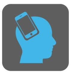 Smartphone head integration rounded square vector