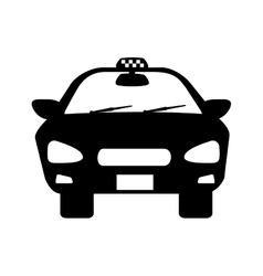taxi cab car vehicle vector image