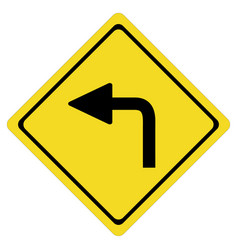 Turn left on white background turn left symbol vector