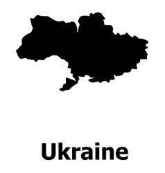 ukraine map icon simple style vector image