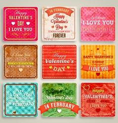 Valentines Background Set vector image