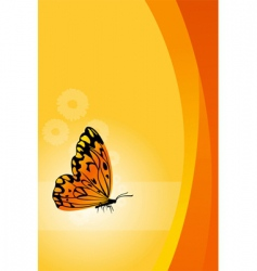 vector floral background with butterfly vector image vector image