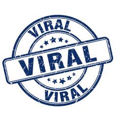 Viral blue grunge stamp vector